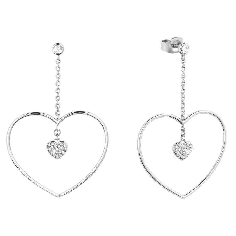 s.Oliver 2027838 Silver Drop Earrings Heart 4056867021982