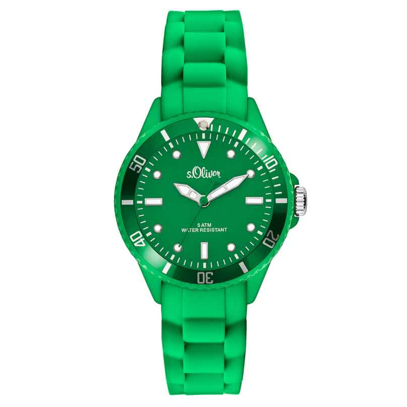 s.Oliver SO-2569-PQ Ladies Watch Green 4035608024314