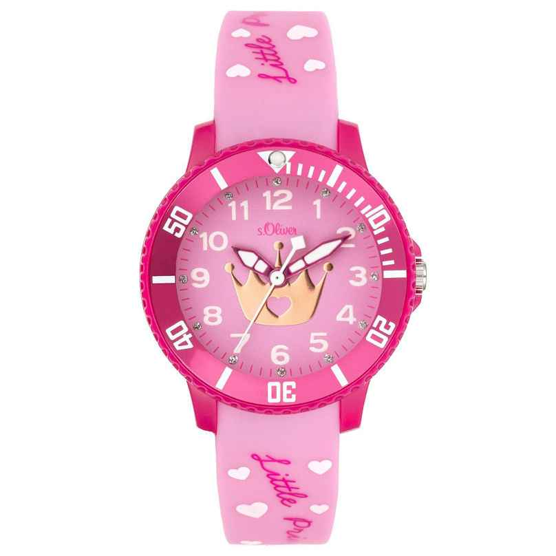s.Oliver SO-3999-PQ Girls Watch Little Princess 4035608040321