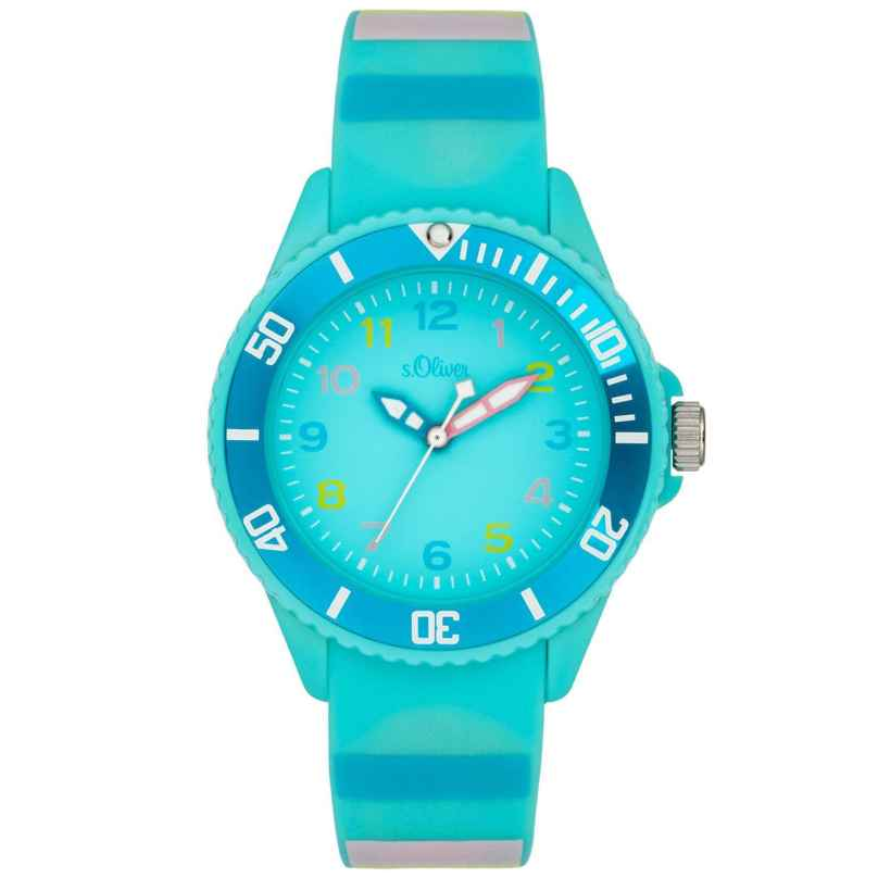 s.Oliver SO-4004-PQ Girls Watch Turquoise 4035608040376