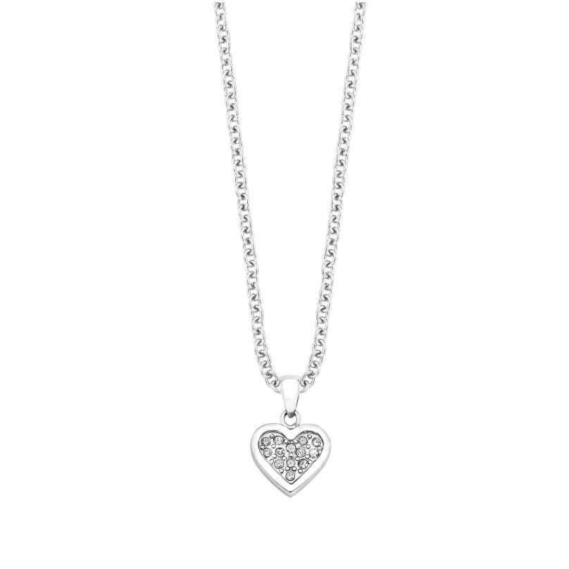 s.Oliver 9054046 Mädchen-Halskette mit Herzanhänger 4020689054046
