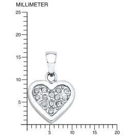 s.Oliver 9054046 Mädchen-Halskette mit Herzanhänger