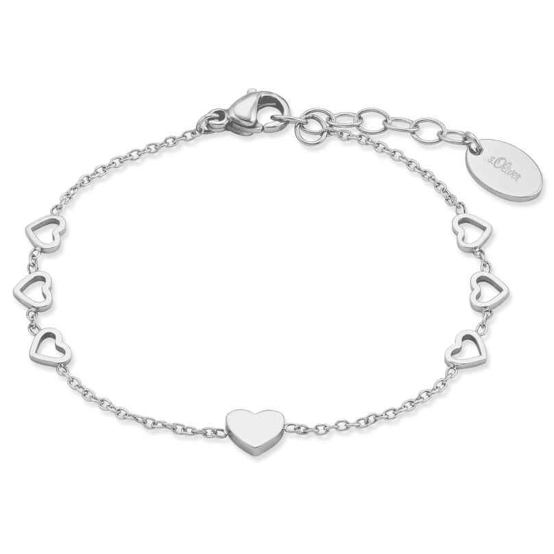 s.Oliver 2028445 Armkette für Mädchen Herz 4056867023450