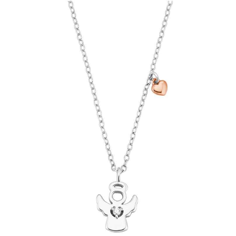 s.Oliver 2028454 Kinder-Halskette für Mädchen Schutzengel Silber 4056867023542