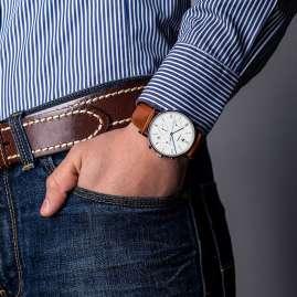 Junkers 9.19.01.04 Herren-Chronograph Uhr mit braunem Lederband Dessau