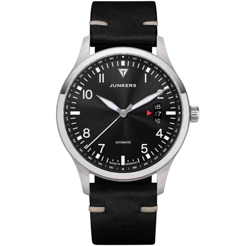 Junkers 9.00.01.02 Automatic Watch for Men Professor Black Leather Strap 4250948692089