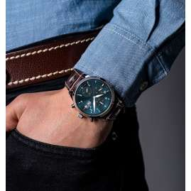 Junkers 9.14.01.12 Men's Watch Chronograph Cockpit Brown / Teal
