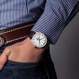 Junkers 9.33.01.03 Herren-Armbanduhr mit Mondphase Tante JU Braun / Silber