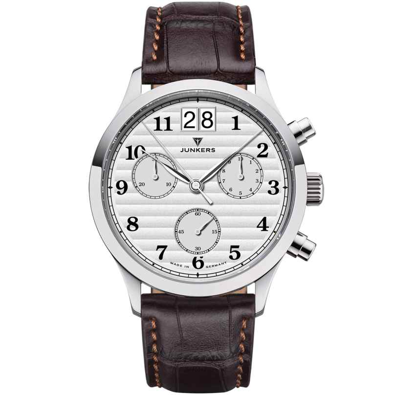 Junkers 9.23.01.03 Herren-Chronograph Großdatum Tante JU Dunkelbraun / Silber 4250948691839
