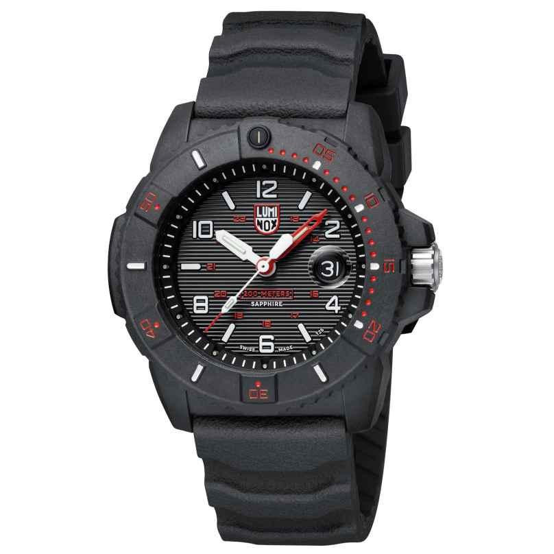 Luminox XS.3615 Herren-Taucheruhr Navy Seal Schwarz/Rot 7611382585028