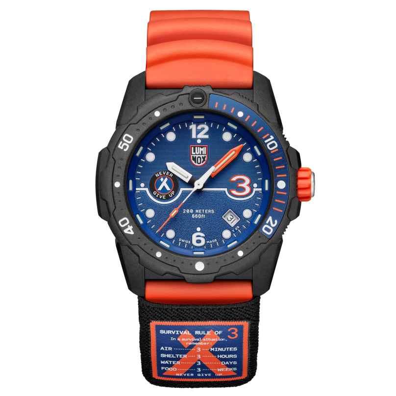 Luminox XB3723.R3 Herren-Taucheruhr Bear Grylls Survival Orange/Blau 7611382595409