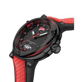 Ducati DTWGN2018904 Herren-Armbanduhr Schwarz/Rot