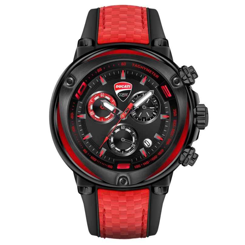 Ducati DTWGO2018805 Herrenuhr Chronograph Schwarz/Rot 4894816008369
