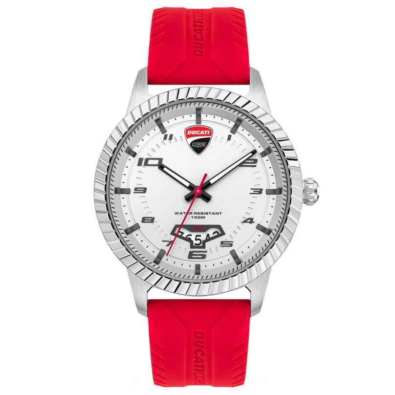 Ducati DTWGN2019502 Herrenuhr Rot/Silberfarben 4894816008697