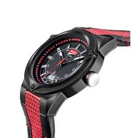 Ducati DTWGB2019701 Herrenuhr mit Lederband Schwarz/Rot