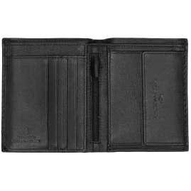 Tom Tailor 25301 Herren-Geldbörse Kai Leder Schwarz Hochformat mit RFID Schutz