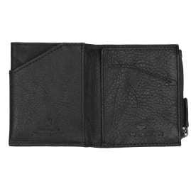 Tom Tailor 27310 Leder-Geldbeutel Barry Schwarz Micro mit RFID Schutz
