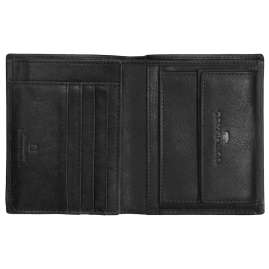 Tom Tailor 27313 Leather Wallet Barry Black Portrait Format RFID protection