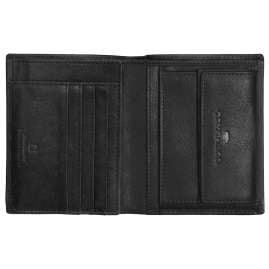 Tom Tailor 27313 Leder-Geldbeutel Barry Schwarz Hochformat mit RFID Schutz