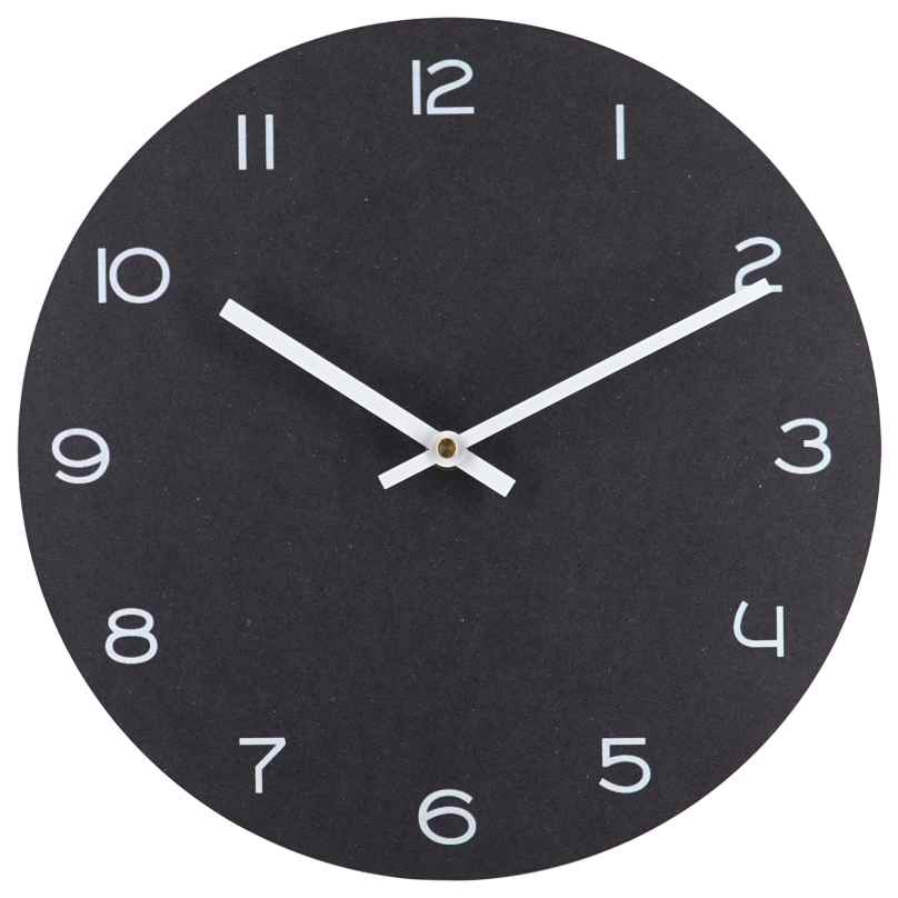 trendor 75862 Quartz Wall Clock Anthracite with White Numbers Ø 29 cm 4260641758623