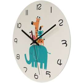 trendor 75871 Children's Wall Clock Wildlife Animals Ø 30 cm without Ticking
