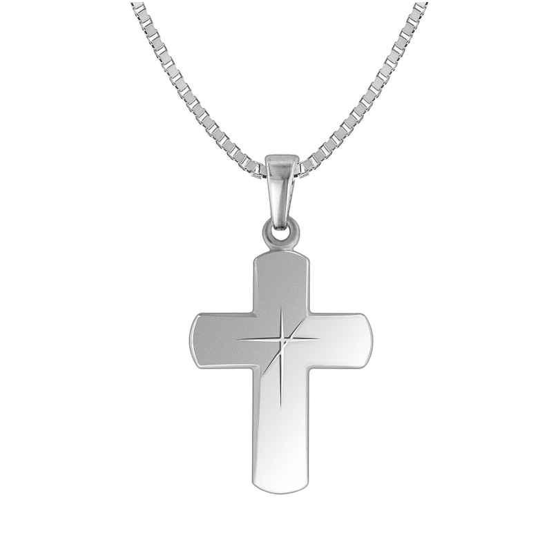 trendor 83785 Silber-Halskette mit Kreuz für Herren 4260266583785