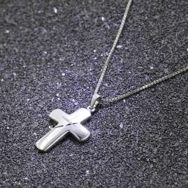 trendor 83785 Silver Necklace with Cross for Men