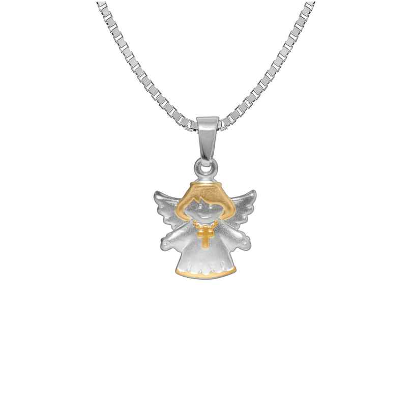 trendor 72771 Silver Necklace with Angel Pendant Two-Colour 4260333972771