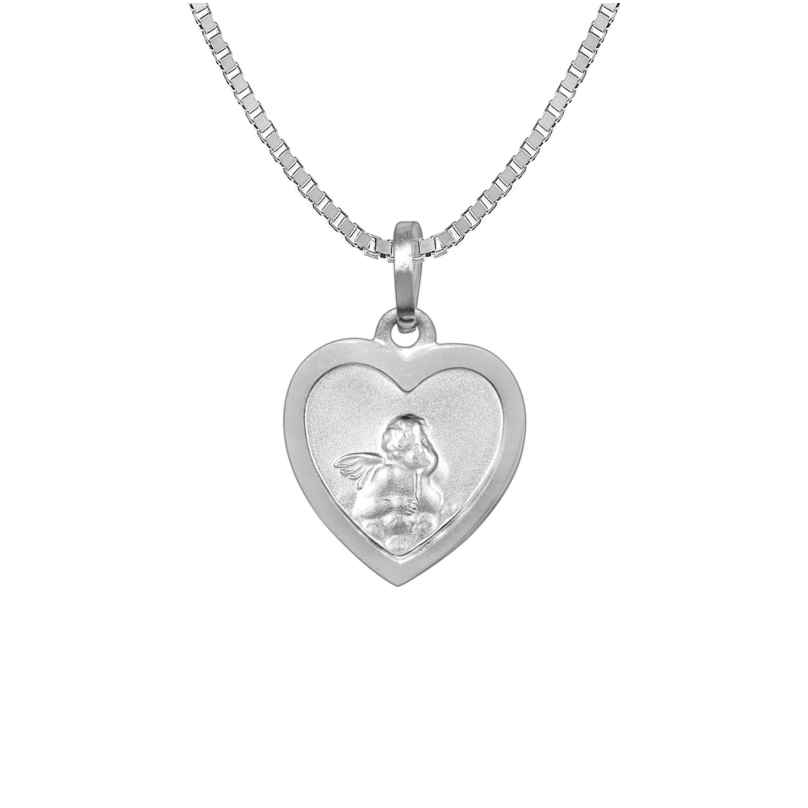 trendor 73082 Silver Necklace with Guardian Angel Heart Pendant 4260333973082