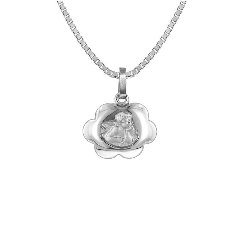 trendor 73136 Silber Halskette mit Schutzengel-Anhänger 4260333973136