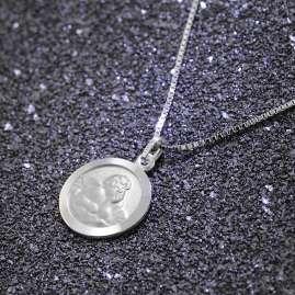 trendor 73181 Kinder-Halskette mit Schutzengel-Anhänger Silber 925