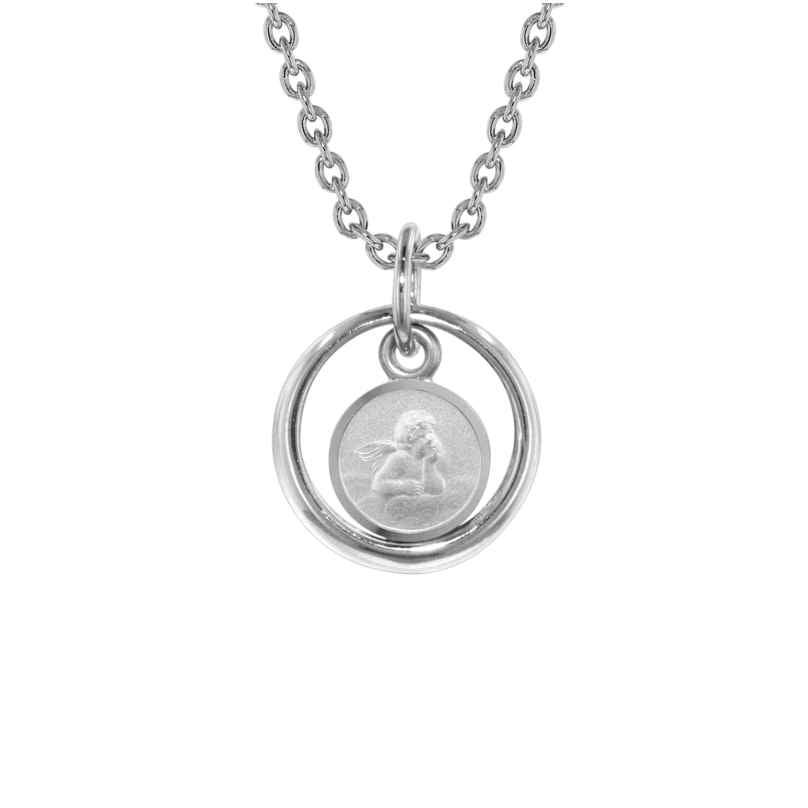 trendor 73259 Halskette Taufring mit Engel Silber 925 4260333973259
