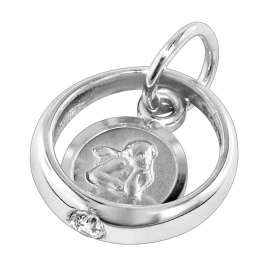 trendor 73266 Christening Ring with Angel Silver Necklace