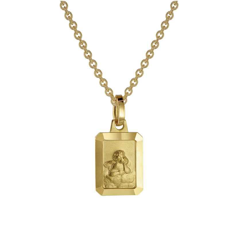 trendor 73457 Engel Anhänger Gold 333 + goldplattierte Silberkette 40 cm 4260333973457