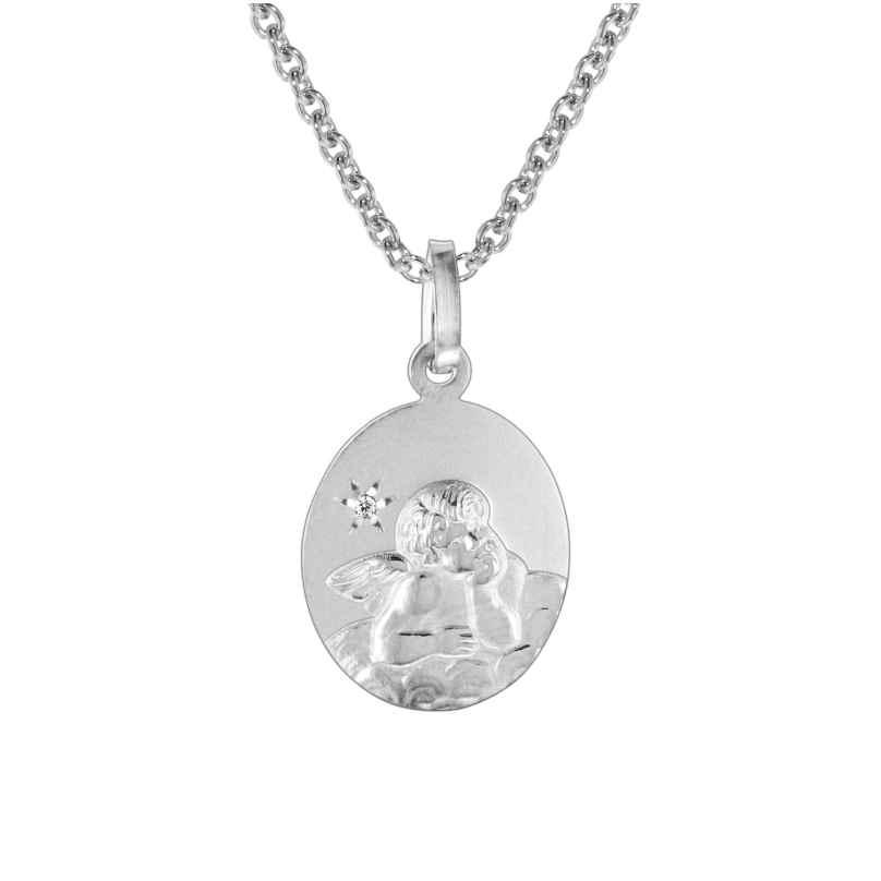 trendor 73570 Halskette Engel-Anhänger mit Diamant Silber 925 4260333973570