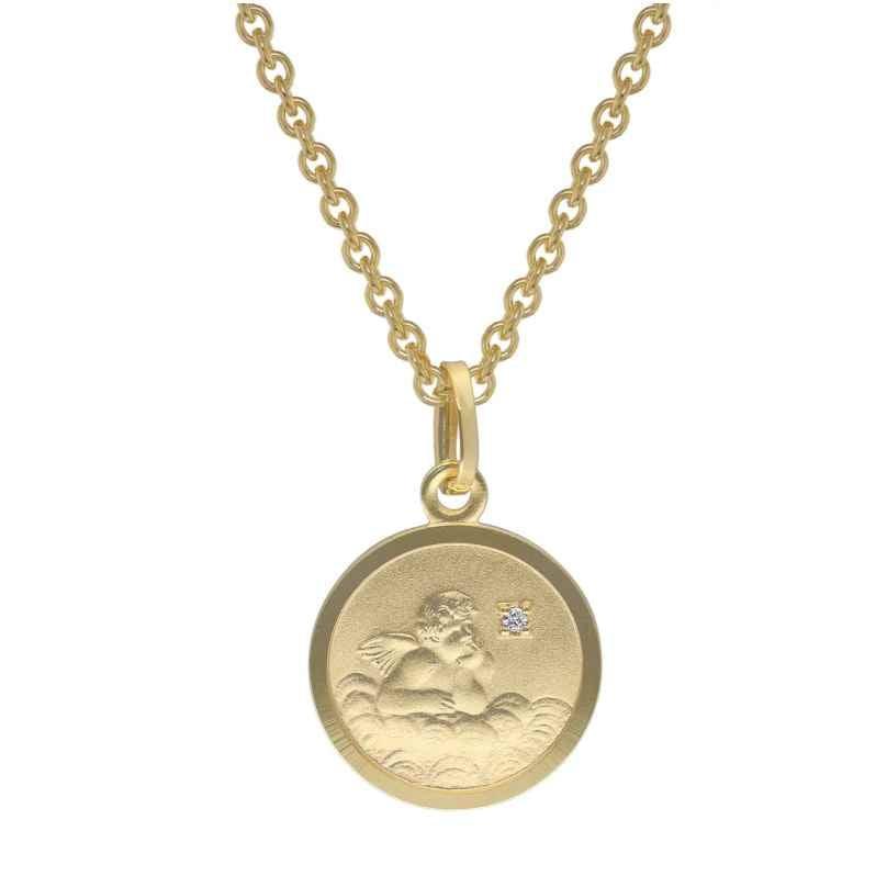trendor 73600 Engel-Anhänger mit Diamant Gold 333 für Kinder 4260333973600