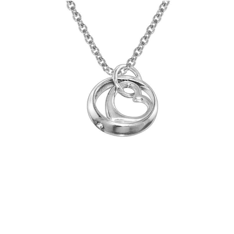 trendor 78247 Halskette mit Herz-Taufring Sterling Silber 925 4260333978247