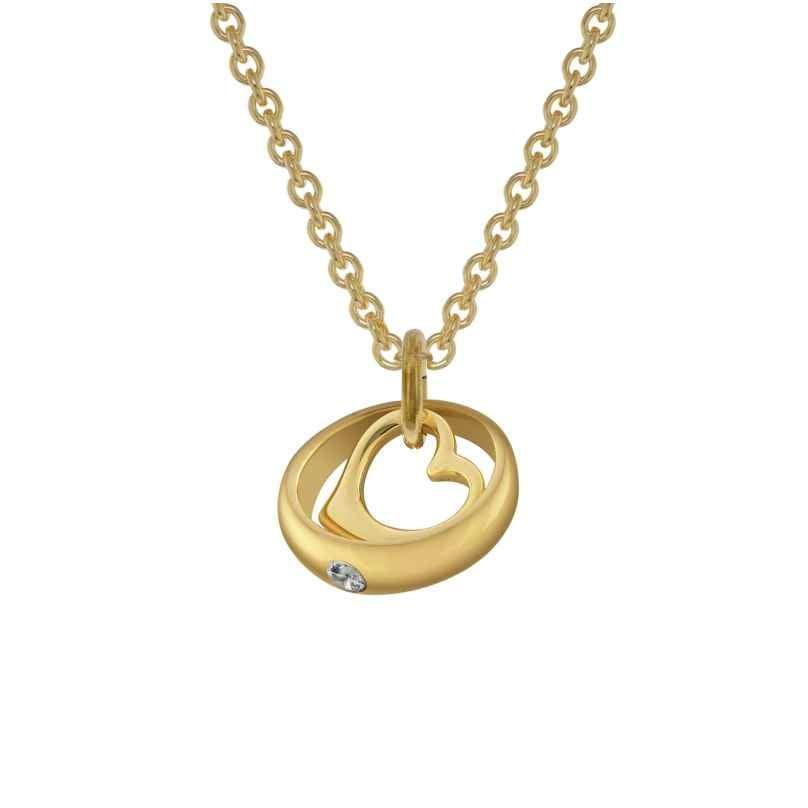 trendor 78285 Taufring-Anhänger Gold 333 mit 42 cm goldplattierter Halskette 4260333978285