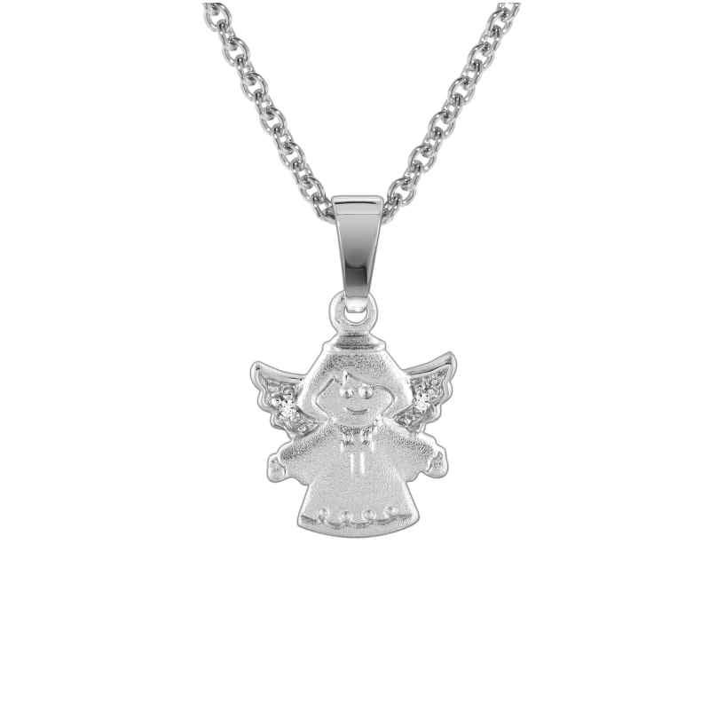 trendor 78612 Silberkette mit Engel-Anhänger für Kinder 4260333978612