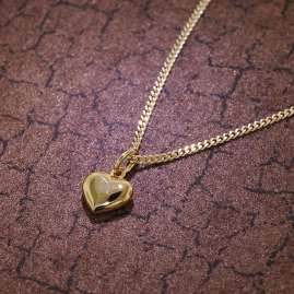 trendor 35734 Small Heart Gold Pendant for Children