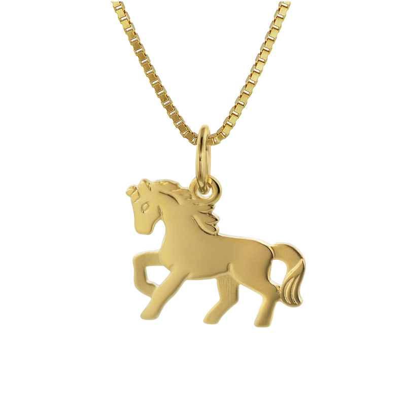 trendor 35736 Halskette für Kinder mit Gold-Anhänger Pferd