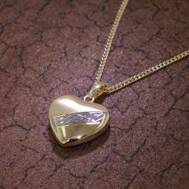 trendor 35763 Heart Pendant Gold 8K Two-Colour