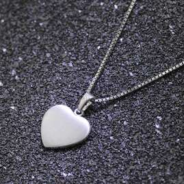 trendor 35823 Silver Heart Pendant Kids Necklace