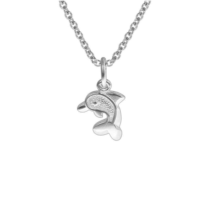 trendor 35828 Kinder-Halskette mit Delfin-Anhänger Silber 925 4260435358282