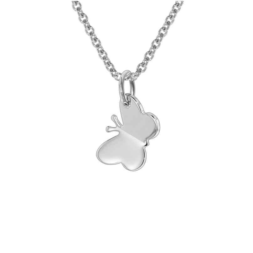 trendor 35831 Silber-Halskette mit Schmetterling für Kinder 4260435358312