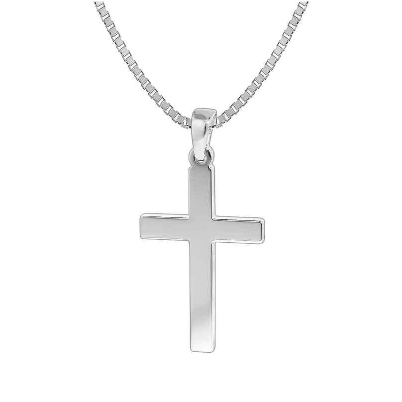 trendor 35844 Silver Cross Pendant Mens Necklace 4260435358442