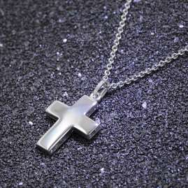 trendor 35845 Cross Pendant Silver Necklace
