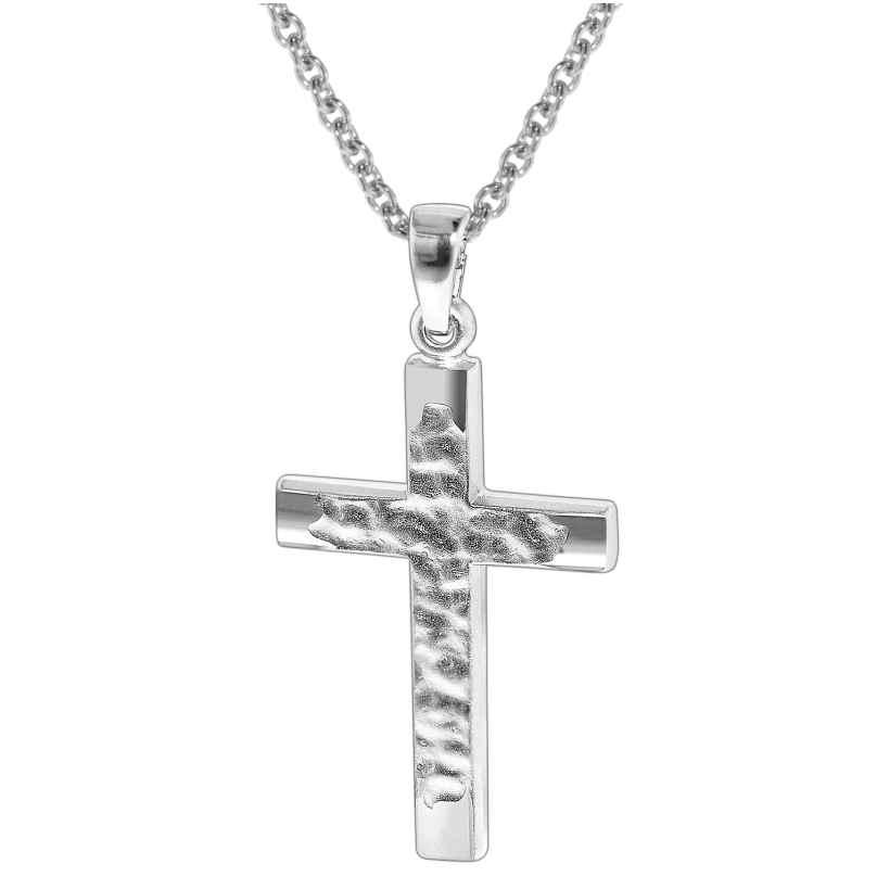 trendor 35848 Silber Halskette mit Kreuz-Anhänger 4260435358480