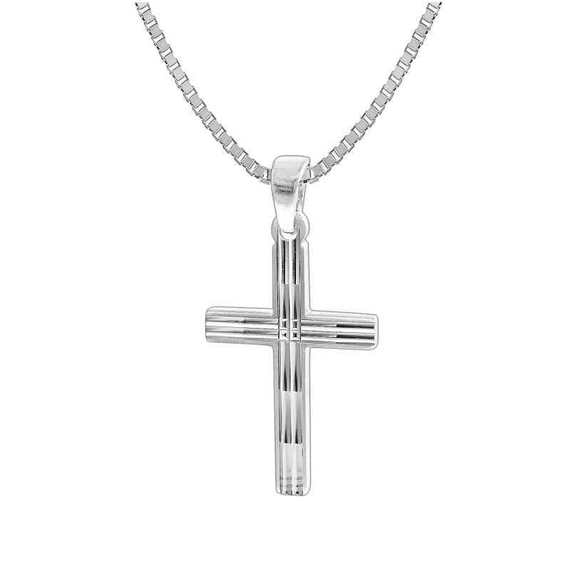trendor 35851 Kreuz mit Herren-Halskette 925 Silber 50 cm 4260435358510