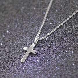 trendor 35868 Kreuz-Anhänger für Kinder mit Silberkette 925